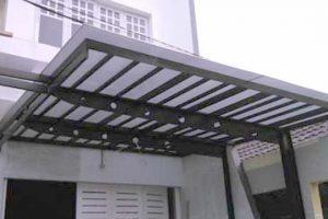 canopy dengan bahan twinlite, rangka besi