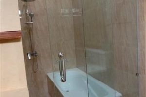 pintu kaca sliding dan permanen, tempered 10mm