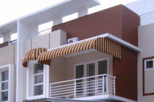 canopy kain tipe Quarter Rounded dan Dome, warna kain coklat muda dan tua (RC 211)