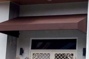 canopy kain tipe standard warna coklat polos (RC 156)