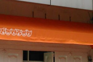 canopy kain tipe standard, kain warna oranye polos (RC 106)
