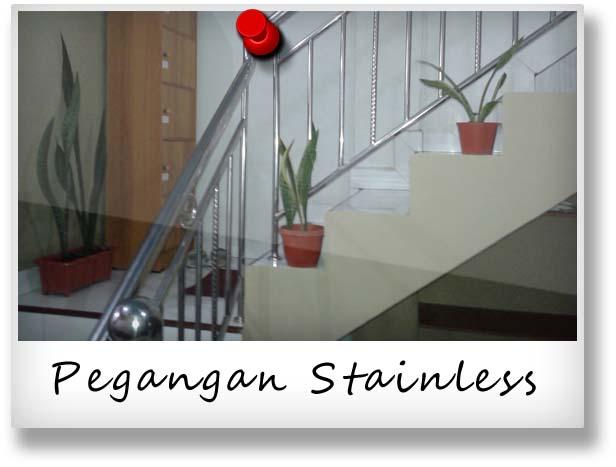 pegangan tangga dengan bahan stainless steel