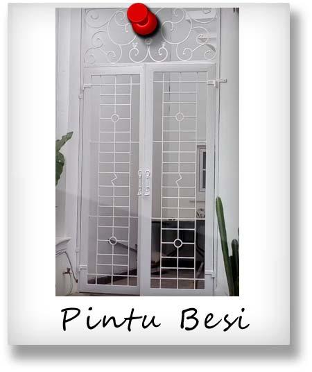 pintu besi minimalis / klasik