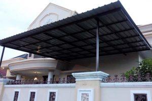 canopy seng tanpa lengkung